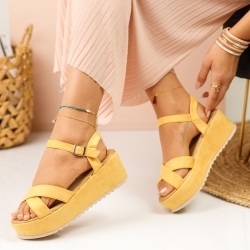 Sandale Platforma Polly Yellow #915K