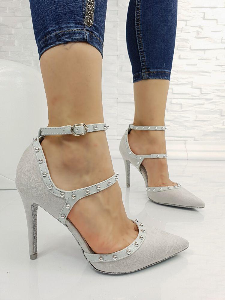 Pantofi Ruby Grey #379K imagine