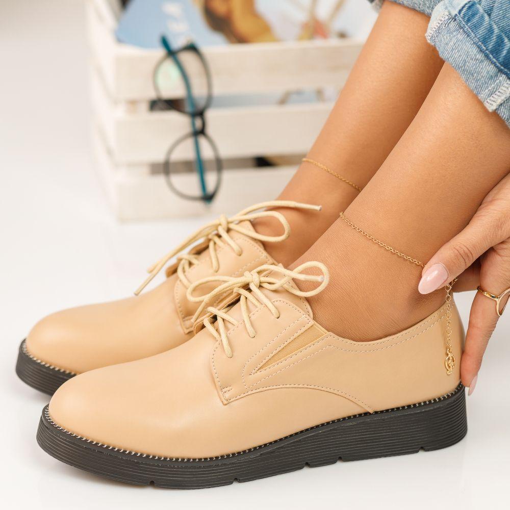 Pantofi Piele Naturala Lucia Rosii #272PN