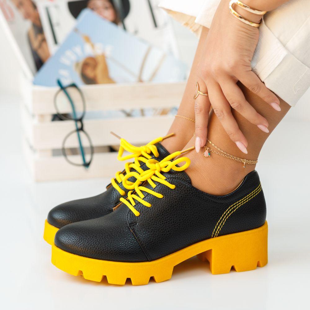 Pantofi Casual Emery Galbeni #380M