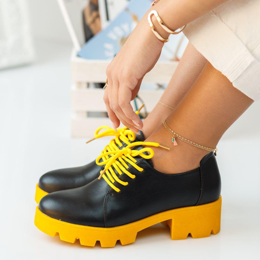 Pantofi Casual Audrey Galbeni #392M