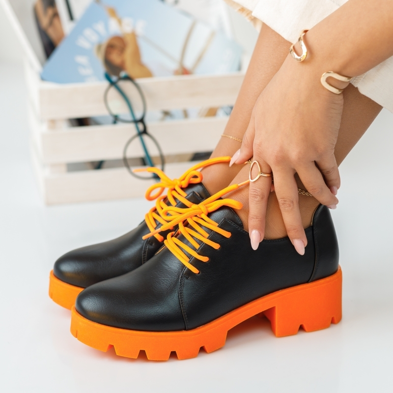 Pantofi Casual Audrey Portocalii #375M