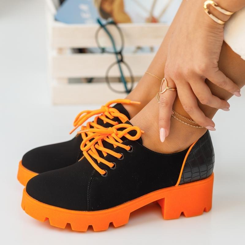 Pantofi Casual Dante Portocalii #373M