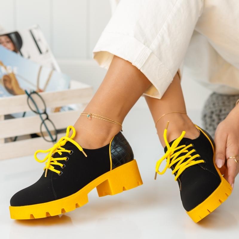 Pantofi Casual Dante Galbeni #372M