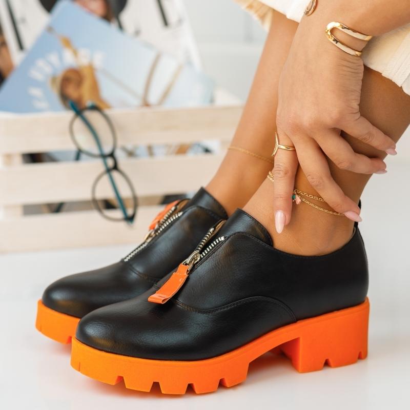 Pantofi Casual Melanie Portocalii #382M