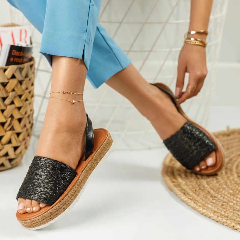 Sandale Dama Sara Negre #644M
