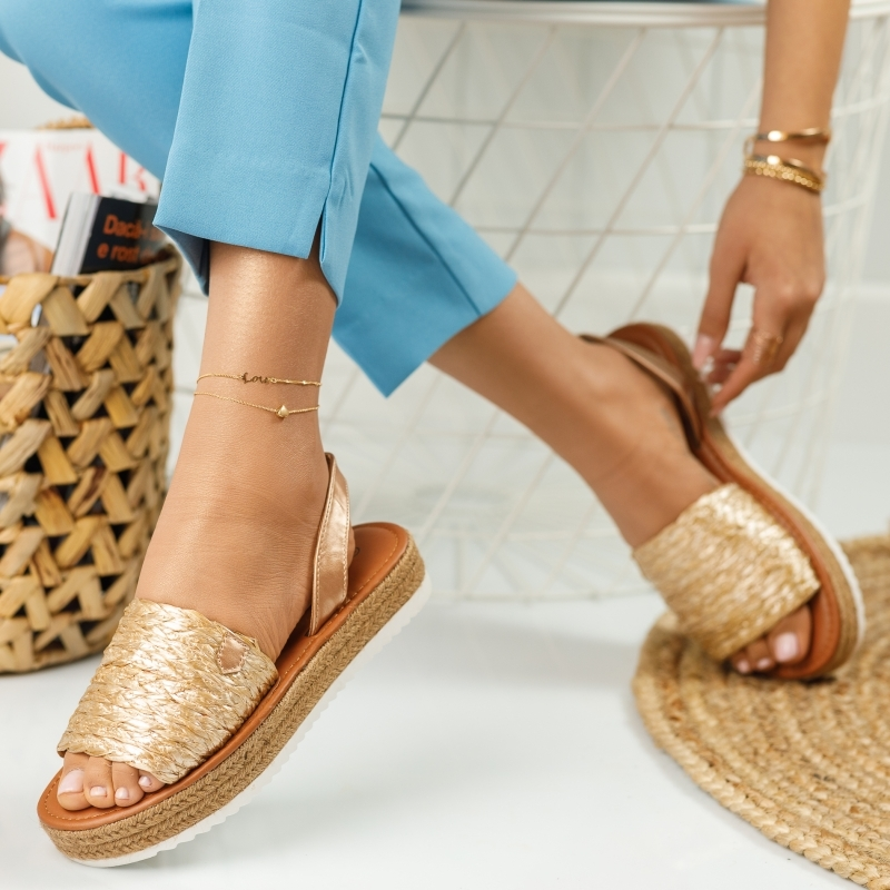 Sandale Dama Sara RoseGold #646M imagine