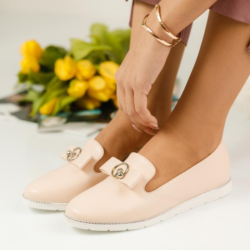 Pantofi Casual Dama Karma Bej #1131M