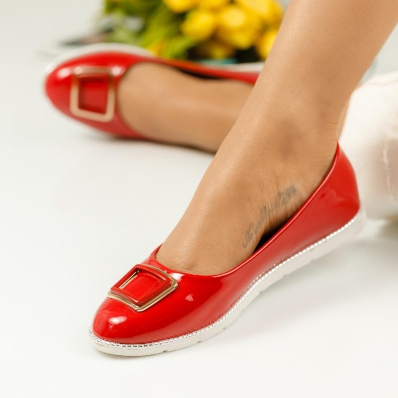 Pantofi Casual Dama Alissa Rosii #1124M