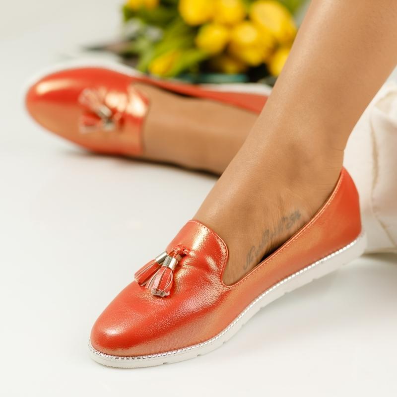 Pantofi Casual Dama Trusha Rosii #1143M