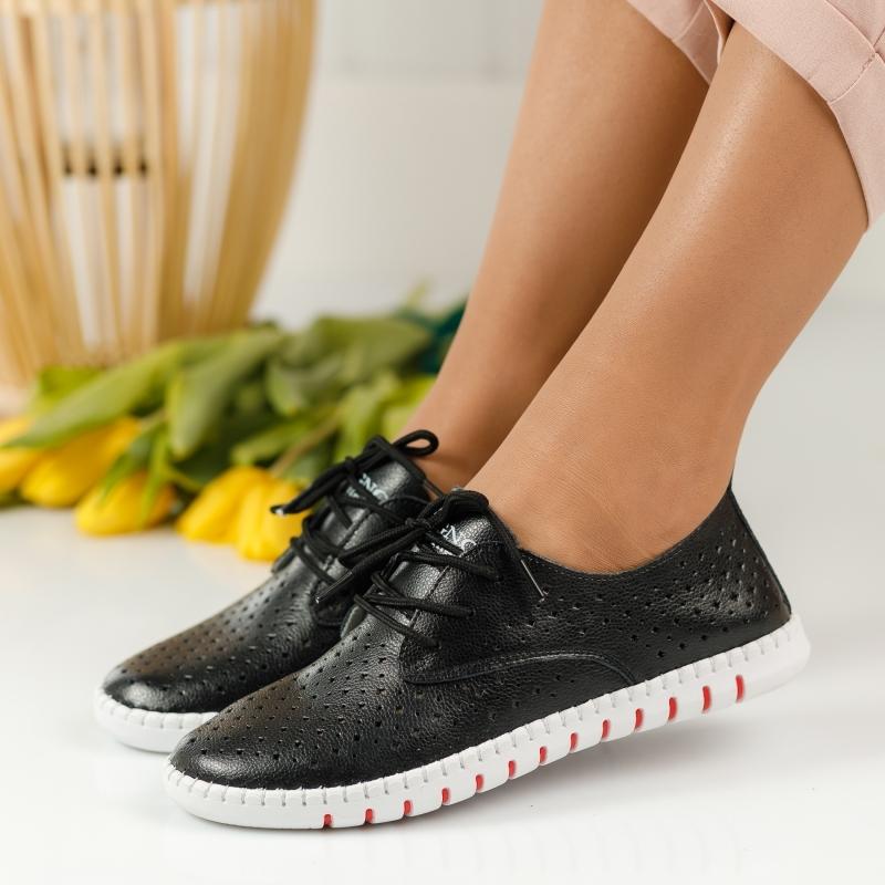Pantofi Piele Naturala Cezara Negri #1255M imagine