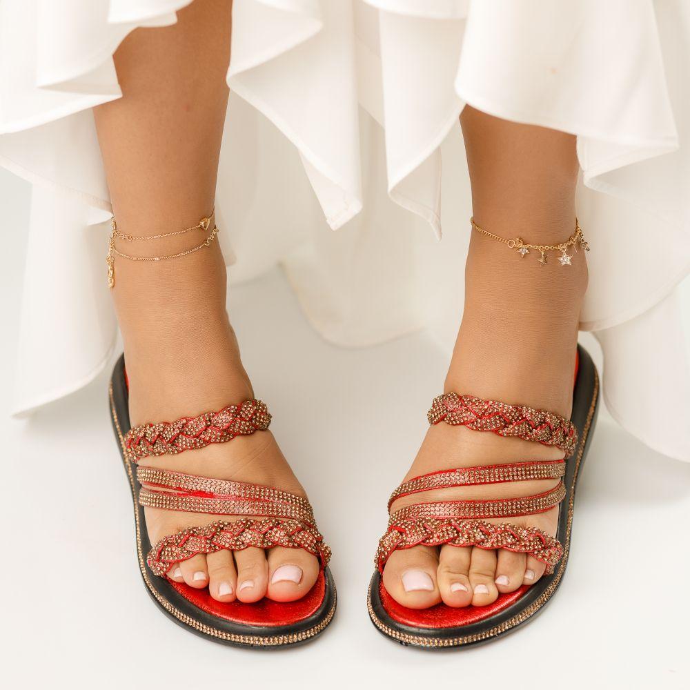 Papuci Dama Diana Rosii #1390M