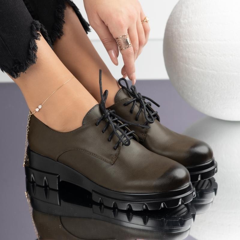 Pantofi Casual Dama Havana Verzi #3672M