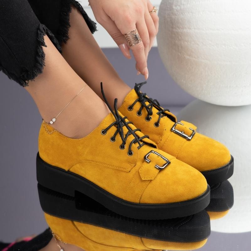 Pantofi Casual Dama Mara Galbeni #3724M