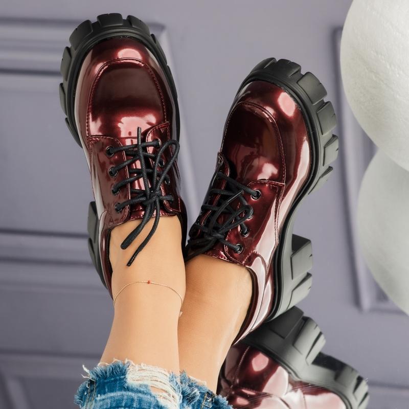 Pantofi Casual Dama Felice Bordo #3722M