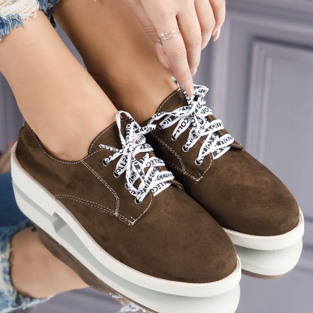 Pantofi Casual Dama Aurora Verzi #3812M