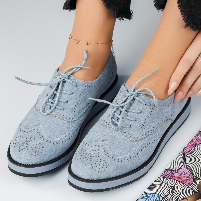 Pantofi Casual Dama Betsy Albastri #4189M