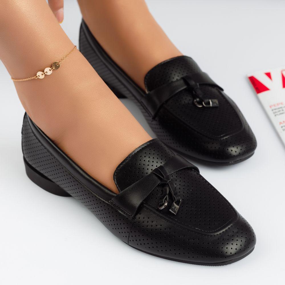 Pantofi Casual Dama Paulina Negre #4773M