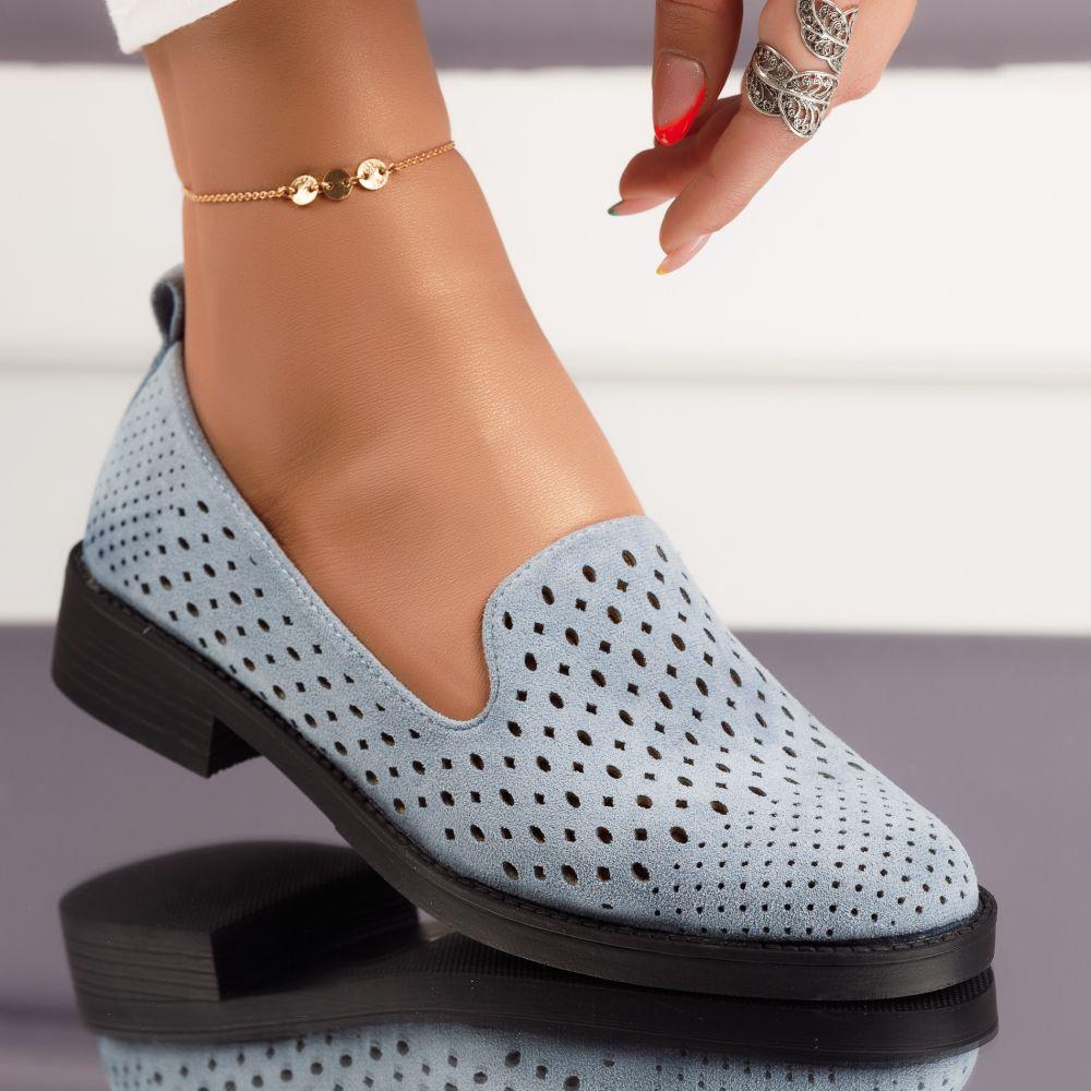 Pantofi Casual Dama Tori Albastri #4791M
