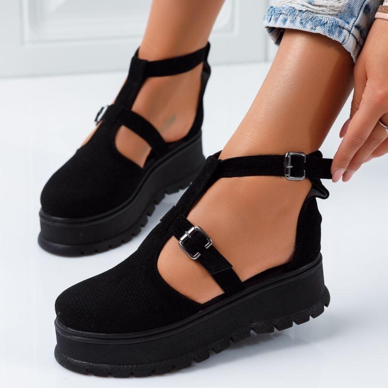 Pantofi Casual Dama Hazel Negre #5087M