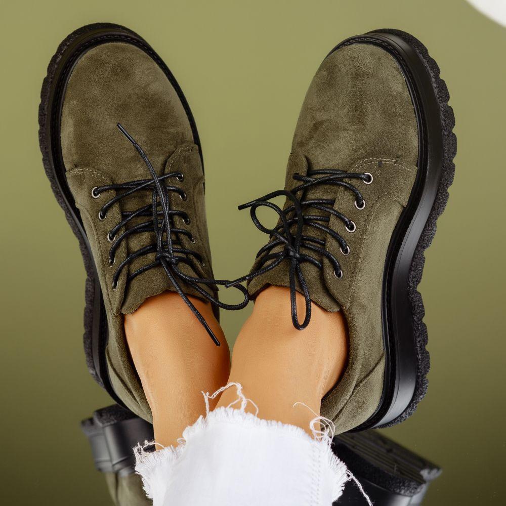 Pantofi Casual Dama Desiree Verzi #7180M