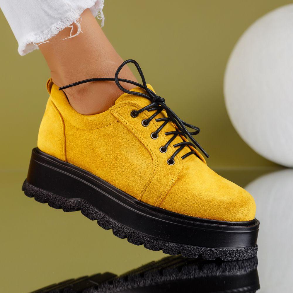 Pantofi Casual Dama Desiree Galbeni #7178M