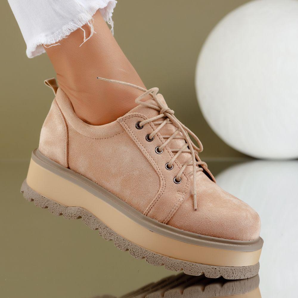 Pantofi Casual Dama Desiree Bej #7181M
