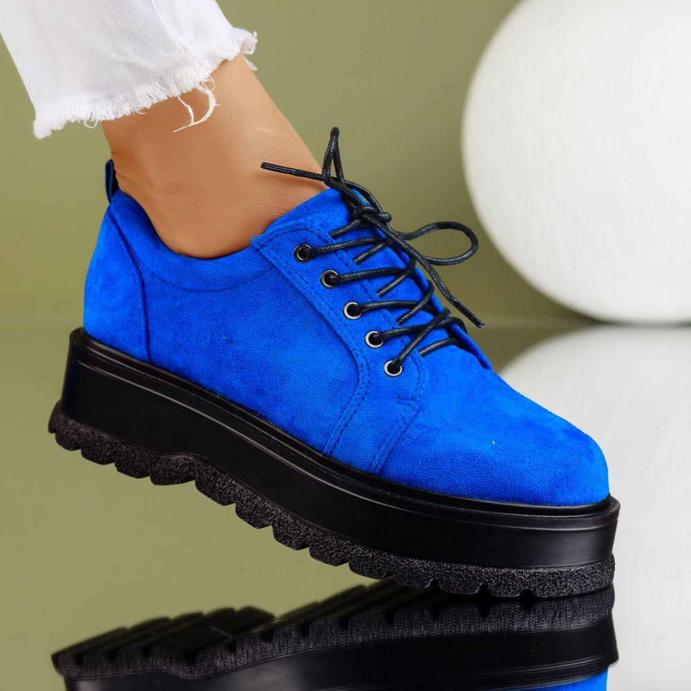 Pantofi Casual Dama Desiree Albastri #7179M